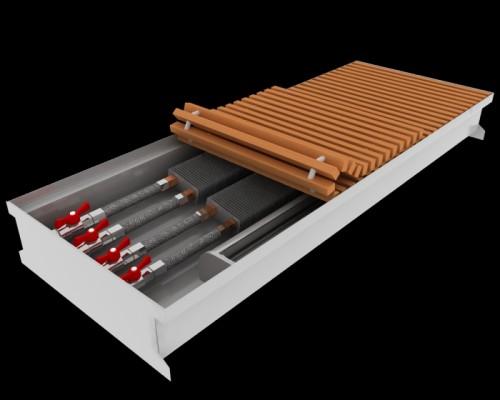 Внутрипольный конвектор повышенной мощности Fancoil FCFA Plus