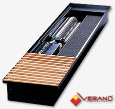 Внутрипольный конвектор VERANO TURBO VKN: Ширина 280 мм. Глубина 75 мм.