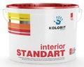 Водно-дисперсионная устойчивая к мытью краска KOLORIT Interior STANDART, 10 л