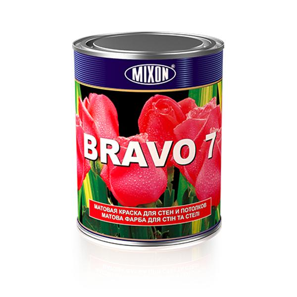 Фото 1 Матовая акриловая краска для стен Mixon Bravo-7. 1 л 302817