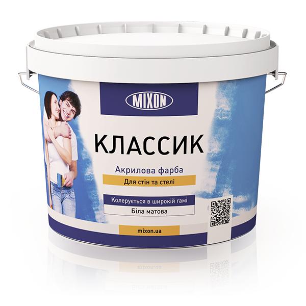 Фото 1 Акриловая краска для внутренних работ Mixon Классик, 10 л 303358