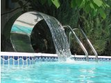 Водопад к бассейну из нержавеющей стали излив 500мм