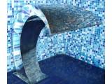 ВОДОПАД ГЕЙЗЕР ЛЕСТНИЦА Дизайн-радиатор тм BLESK для сауны, бани, бассейна, ванной, душевой, гостинницы