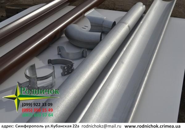 Водосточная система металлическая собственного производства ТМ Родничок. Под заказ. Цена договорная