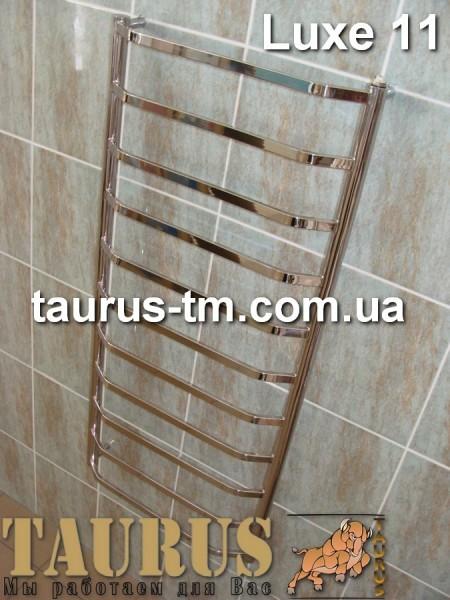 Водяной полотенцесушитель Luxe 11 / 500 мм. Установка электрического тэна. Доставка по Украине.