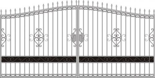 Ворота 3,5 х 1,5 м Цвет черный Хамертон. Есть возможность изменения цвета.