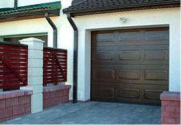 Ворота «ADREX» с филенчатой структурой поверхности. Филенчатые ворота.