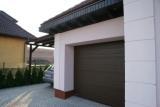 Ворота гаражные секционные 2500x2250, коричневые, ручка, ригель, пружины натяжения