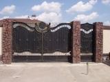 ворота художественная ковка