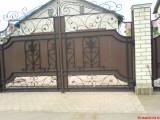 Изготовление кованых ворот под заказ в Харькове, ворота с элементами ковки, ковка холодная и горячая.