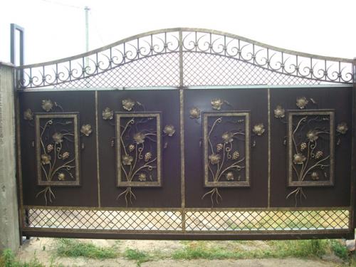 Ворота кованые (откатные), калитки. Ворота из профнастила, гаражные ворота! Консультация и замер-бесплатные!