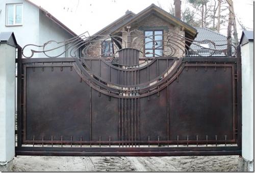 Ворота кованые сдвижные Днепропетровск