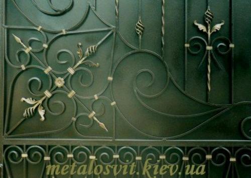 ворота кованые закрытые 0т 155 кв. м