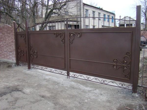 Ворота металлические усиленные