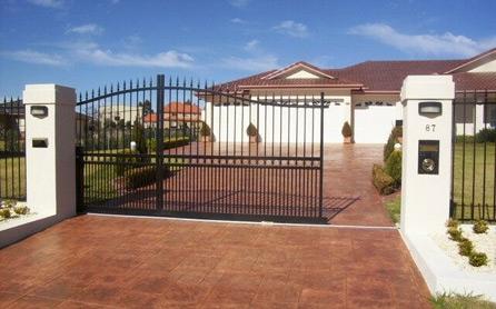 Ворота откатные, зашивка профлист из 2-х сторон 4000*2000