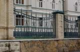 Ворота распашные кованые 001