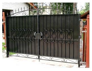 Ворота распашные, решетчатые, из металлопрфиля, с поликарбонатом, автоматические, роллеты.