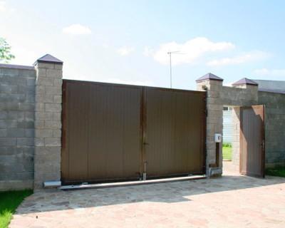 Ворота распашные установка и монтаж