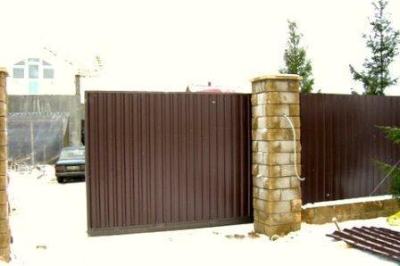 Ворота въездные откатные