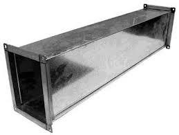 Воздуховод прямоугольный 100х100 мм из оцинкованной стали толщиной 0,5 мм