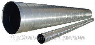 Воздуховод спирально-навивной (толщина металла 0,55мм) Ду125