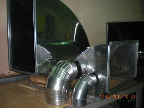 Воздуховоды и фасонные элементы систем дымоудаления и вентиляции из термостойкой нержавеющей стали