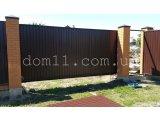 Фото  1 Откатные ворота из профнастила 1437498