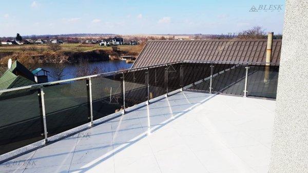 Фото 1 Перила для балкона с поручнем из нержавеющей стали и стекла 339322