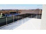 Фото 1 Перила для балкона з поручнем з нержавіючої сталі і скла 339322