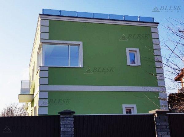 Фото 2 Перила для балкона з поручнем з нержавіючої сталі і скла 339322