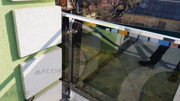 Фото 3 Перила для балкона с поручнем из нержавеющей стали и стекла 339322