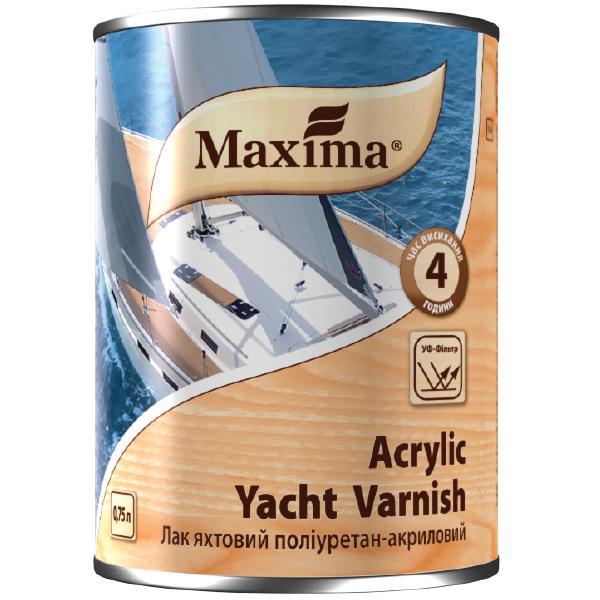 Лак яхтный полиуретан-акриловый TM Maxima