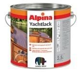 Яхтный лак ALPINA YACHTLACK (Германия). Стойкий к морской воде специальный глянцевый лак для наружных работ.