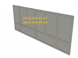 Фото  1 Забор бетоный секционный Плита ПЗ 60x10, большой выбор ЖБИ. Доставка в любую точку Украины. 1941165