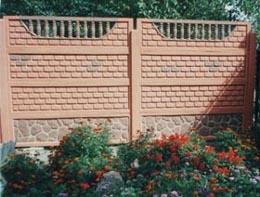забор бетонный, декоративный, наборной