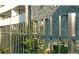 Ворота из нержавеющей стали с калиткой распашные цена фото