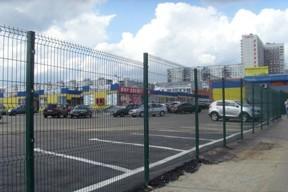 Забор из оцинкованной проволоки, покрытой полимером для Азс, парковок, стоянок