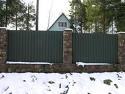 Забор из профнастила, продажа профнастила, изготовление столбиков, установка забора