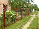 Забор из сетки рабицы. Сетка рабица установка