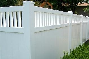 Забор пластиковый. Секция №14. Высота-2м. Длина-2,44м Секция столб.