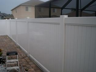 Забор пластиковый. Секция №4. Высота-2м. Длина-2,44м Секция столб.