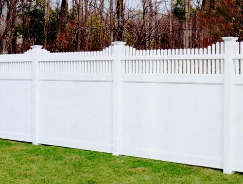 Забор пластиковый. Секция №6. Высота-2м. Длина-2,44м Секция столб.