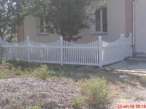 Забор пластиковый. Высота 0,91м. Длина 2,0м. Комплект панель столб.