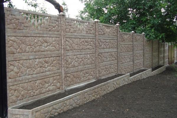 Забор по технологии Гранилит темный янтарь
