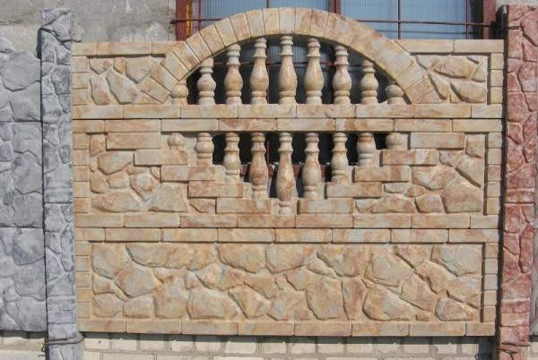 Забор по технологии Гранилит янтарь
