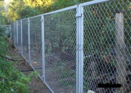 Забор сетка рабица установка продажа. Цена с установкой и без