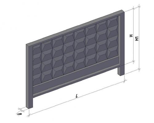 Забор железобетонный П 6в + стаканы