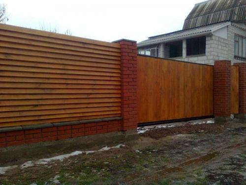 заборы деревянные купить в Киеве Цена от