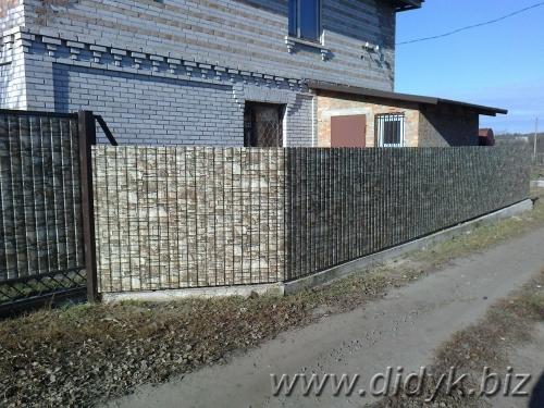 Заборы из профнастила на металлокаркасе (эконом вариант)цена за работу