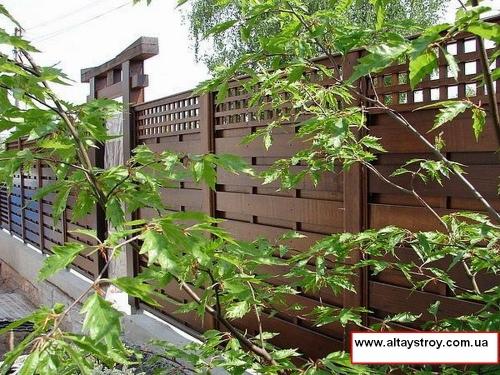 Заборы, ограждения деревянные из дерева для частного дома купить по цене от